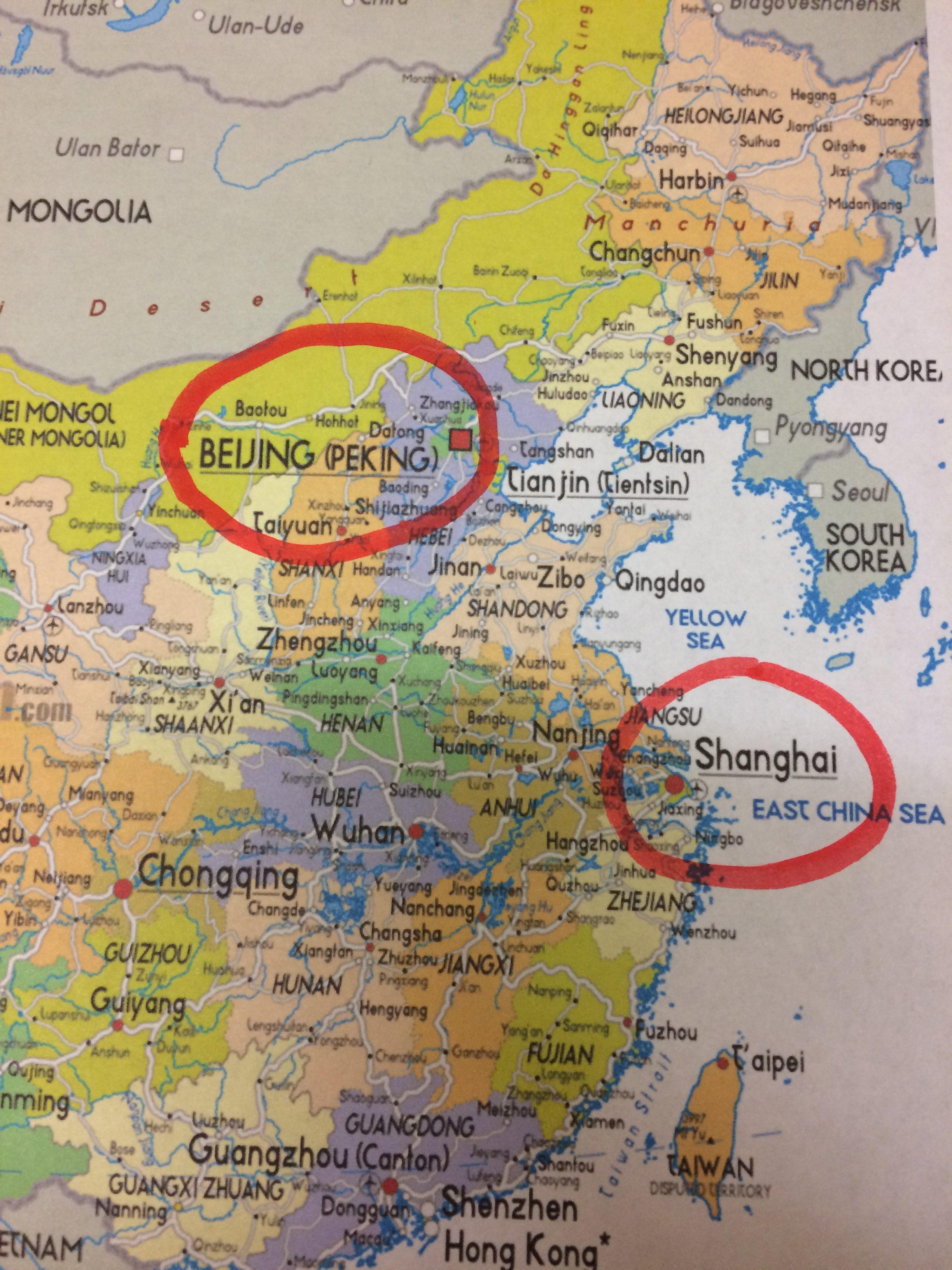 Beijing or Shanghai?