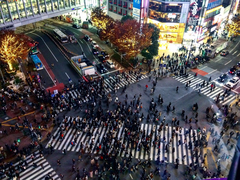 tokyo highlights shibuya crossing