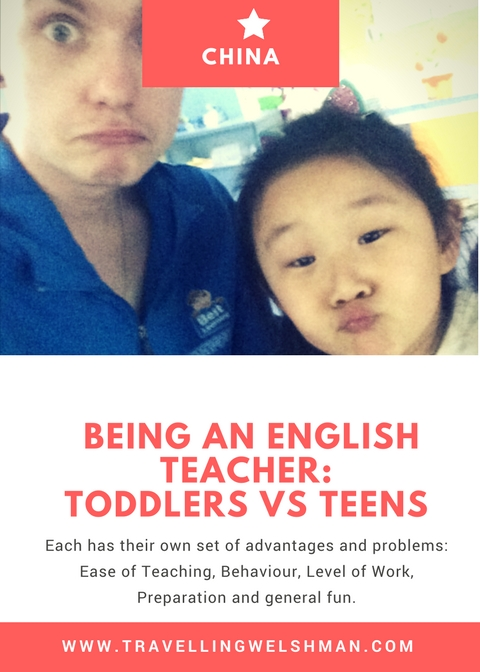 Being an English Teacher: Toddlers Vs Teens
